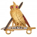 NLAPW Med Owl With Ruby Eyes