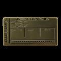 * NEW Ellis Island Inspection Card
