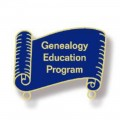 14k Genealogy Education Program Pin