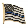 Thin Blue Line Flag - Gold