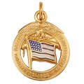14k Daughters of the Union Miniature for Ribbon