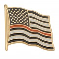 Thin Orange Line American Flag