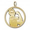 ARRA Branch Pierced Emblem Gold Plate