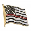 Thin Red Line Pin