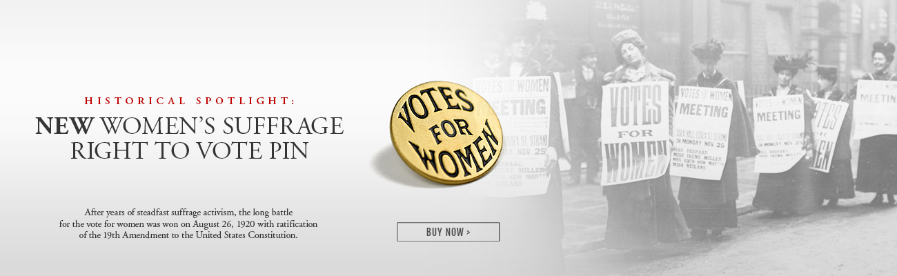 Womens Right to Vote Pin