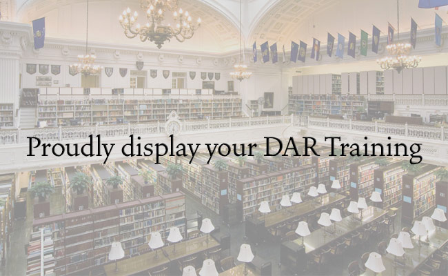 Proudly display your DAR training